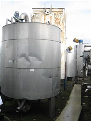 Packo mixing tank insulated, agitator1.5 Kw, cooling jacket, 3 feet, ex blood cooling tank