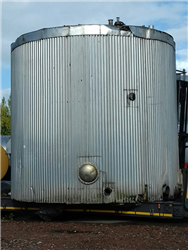 Used tank 90000 liters SS 316 with insulation, serpentin and flat bottom