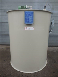 Used polypropylene tank with agitator 0,75kW, 1390rpm