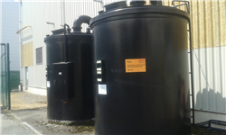 Used PE tank hydrogen pyroxide with double walled for leak detection 10000L