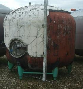 9,652 Litre, Mild Steel, Vertical Base Tank