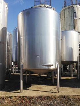 14,000 Litre, Stainless Steel, Vertical Base Tank
