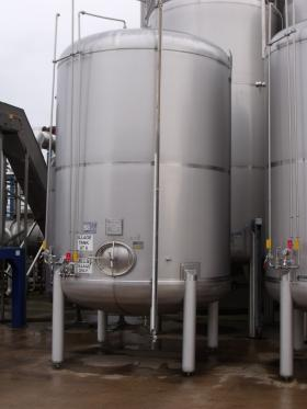 16,500 Litre, Stainless Steel, Vertical Base Tank