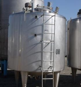 4,700 Litre, Stainless Steel, Vertical Base Tank